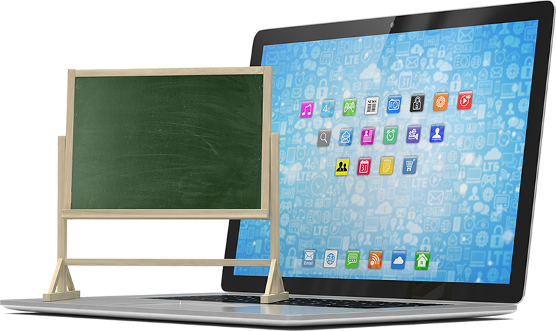 Assistive Technology, image of Chalkboard and Laptop