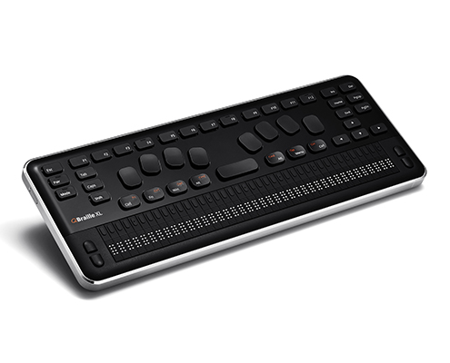 Image of QBraille XL (top down, oblique angle)